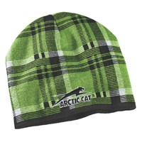 Aircat Plaid Beanie Lime