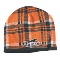 Aircat Plaid Beanie Orange