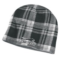 Aircat Plaid Beanie Gray