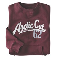 Arctic Cat Maroon Pocket Crew Sweatshirt