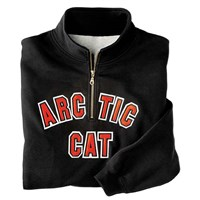 Arctic Cat Applique' 1/4 Zip Sweatshirt