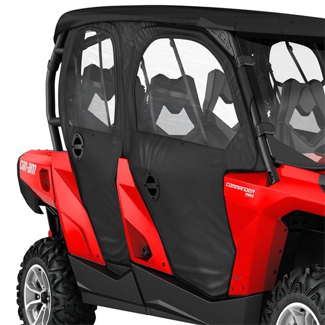 Commander MAX Doors u0026 Rear Panel - Black & Commander MAX Doors u0026 Rear Panel - Black | Powersports Warehouse