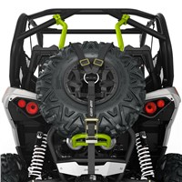 Baja-Style Spare Tire Holder - Manta Green