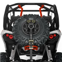Baja-Style Spare Tire Holder - Can-Am Red