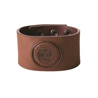 Brown Leather Snap Cuff by Indian Motorcycle