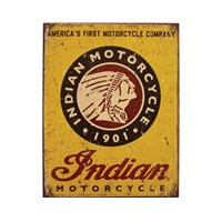 1901 Sign - Yellow by Indian Motorcycle