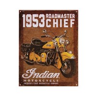 1953 Roadmaster Chief Sign - Brown by Indian Motorcycle
