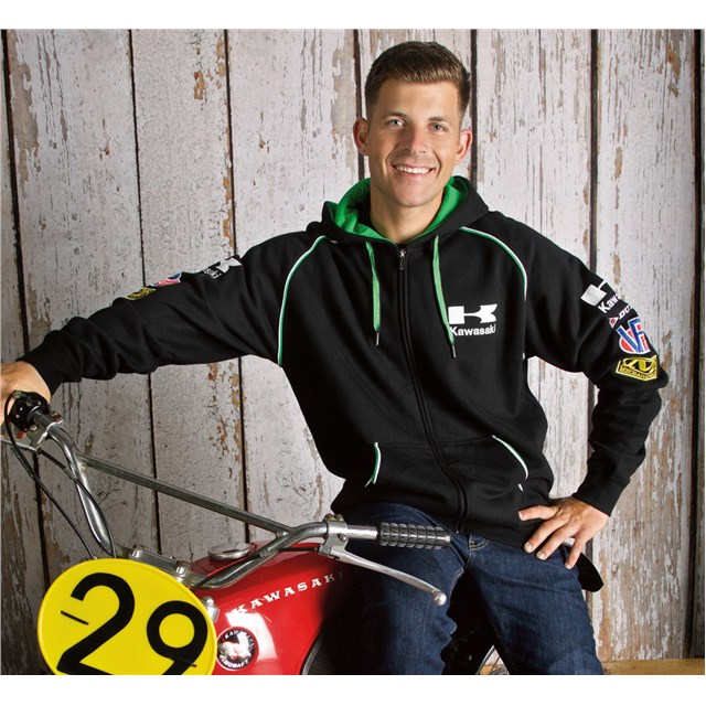 Classic Race Zip-Front Hooded Sweatshirt