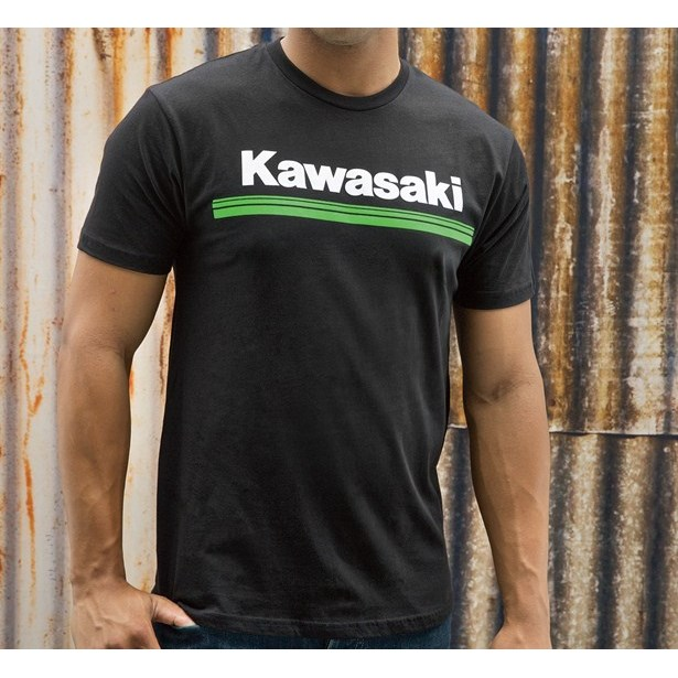 Kawasaki 3 Green Lines T Shirt