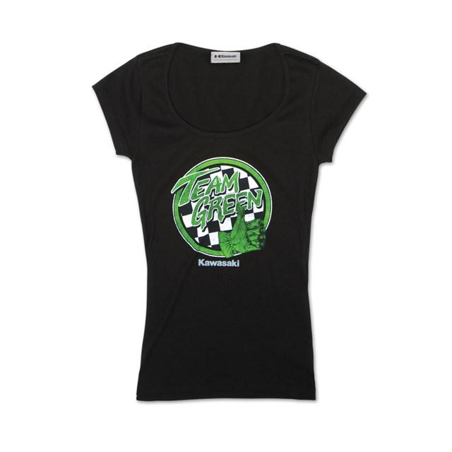 team green™ women's tee | cyclepartsnation kawasaki parts nation
