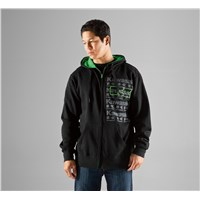 Repeater Zip-Front Hooded Sweatshirt