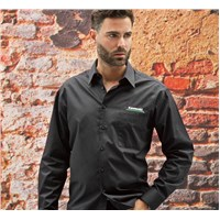 Kawasaki 3 Green Lines Classic Dress Shirt
