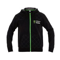 Monster Energy® Kawasaki Gridlock Zip-Front Hooded Sweatshirt