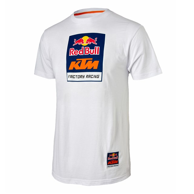 red bull ktm racing logo tee white babbitts online. Black Bedroom Furniture Sets. Home Design Ideas