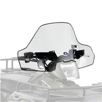 Sportsman Mid Lock & Ride® Windshield, Smoke