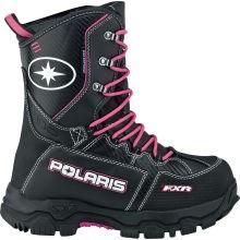 Black /Pink FXR® Womens X-Cross Snowmobile Boot By Polaris