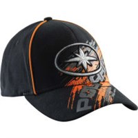 BLACK SLIDE BASEBALL CAP, FITTED BY POLARIS®