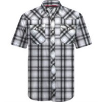 BLACK MEN'S RZR® PLAID SHORT-SLEEVE SHIRT BY POLARIS®