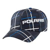 Blue Plaid Summit Windowpane Fitted Baseball Cap By Polaris®