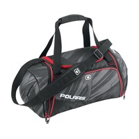 OGIO ENDURANCE DUFFLE BAG, GRAY/BLACK/RED
