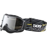 509 FOR POLARIS DIRT PRO GOGGLE, CARBON YELLOW W/CHROME LENS