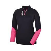 Womens Lift Quarter Zip- Black/Pink