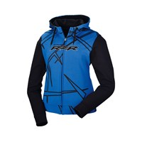 Womens Ascent Full Zip Hoodie- Gray/Blue/Lime