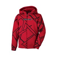 Youth Drift Full Zip Hoodie- Red