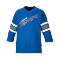 RZR® Youth Dune Three-Quarter Sleeve Tee- Blue/Gray/White by Polaris®