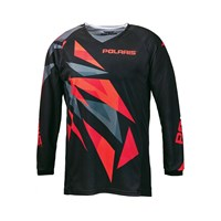 Youth FLY Off-Road Racing Jersey- Red Fractal by Polaris®