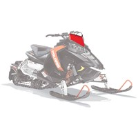 AXYS® Snowmobile Low Windshield - Red