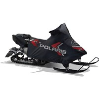 3/4 Polyester Snowmobile Cover - Black/Red