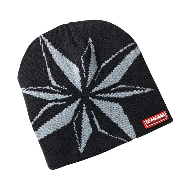 Star Beanie Hat - Black