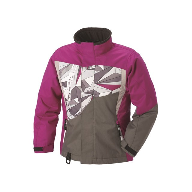 Snow Mobile Clothing : Youth diva jacket pink gray kens sports polaris