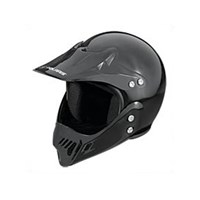Youth Open Face Helmet - Black