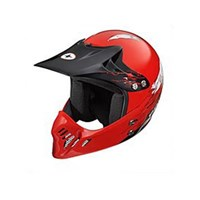 Youth MX Open Face Helmet - Red