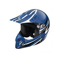 Youth MX Open Face Helmet - Blue