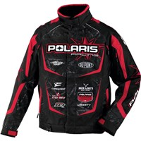 Black/Red FXR For Polaris® Race Crew Jacket