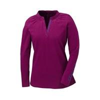 Womens Long Sleeve V-Neck Tee- Purple