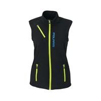 Womens Fleece Vest- Black/Lime