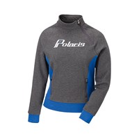 Womens Carved Sweatshirt- Grey/Blue