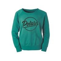 Womens Script Crew Sweatshirt - Teal by Polaris®