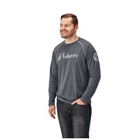 Men's Long Sleeve Retro Tee - Gray