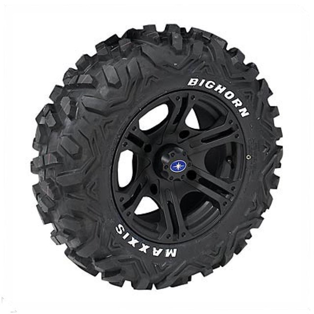 "14"" Flat Black SIXr rims & 26"" Maxxis® Big Horn® Tire Kit"