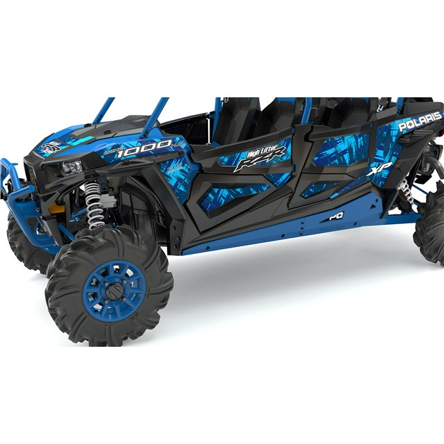 4 Seater Low Profile Rock Sliders Velocity Blue 2016 Polaris Rzr Xp 4 1000 Eps