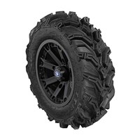 WREC 14 BLACK RIM WITH ITP MUD LITE XTR TIRE KIT