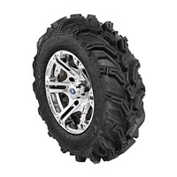 SIXR 14 LUSTER RIM WITH ITP MUD LITE XTR TIRE KIT