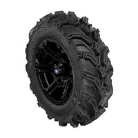 SIXR 14 BLACK RIM WITH ITP MUD LITE XTR TIRE KIT