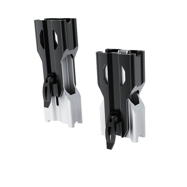 Adjustable Riser for Tapered Handlebar - Black/Aluminum