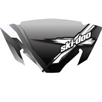Sport Performance Flared Windshield - Smoke with X Graphic